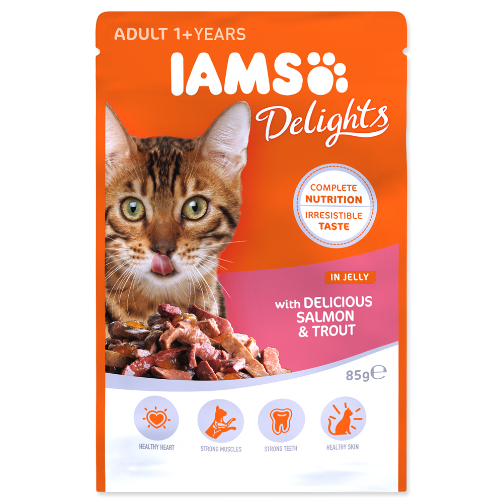 IAMS Cat Delights Salmon & Trout in Jelly 85g
