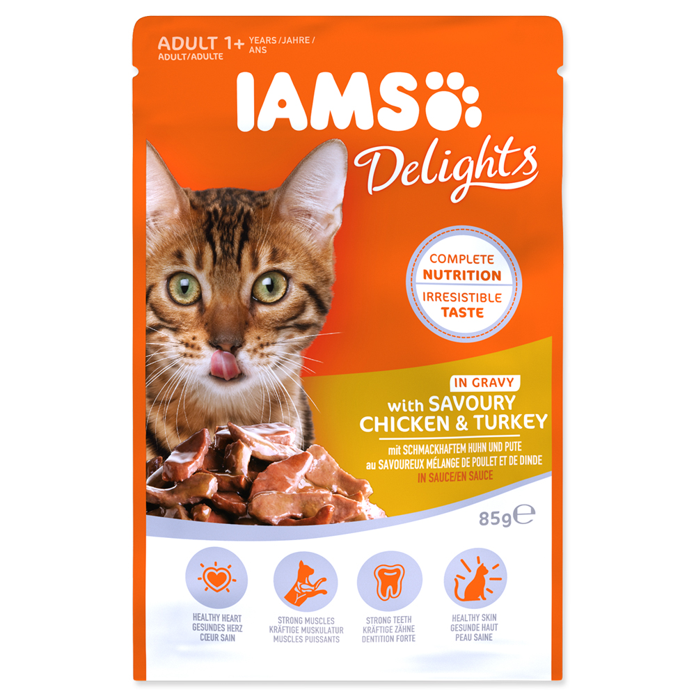 IAMS Cat Delights Chicken & Turkey in Gravy 85g