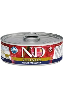 N&D CAT QUINOA Adult Weight Mnmgmt Lamb & Brocolli 80g