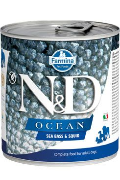 N&D DOG OCEAN Adult Sea Bass & Squid 285g