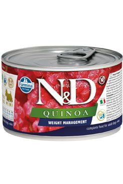 N&D DOG QUINOA Ad. Weight Mnmg Lamb&Brocolli Mini 140g