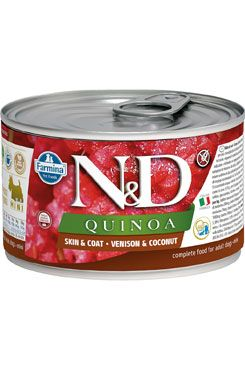 N&D DOG QUINOA Adult Quail & Coconut Mini 140g