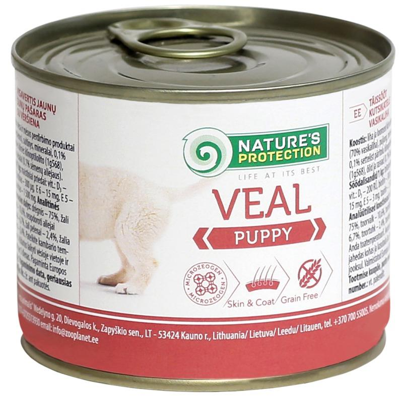 Nature's Protection Dog konz.Puppy telecí 200 g
