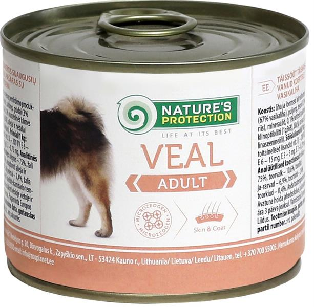 Nature's Protection Dog konz.Adult telecí 200 g