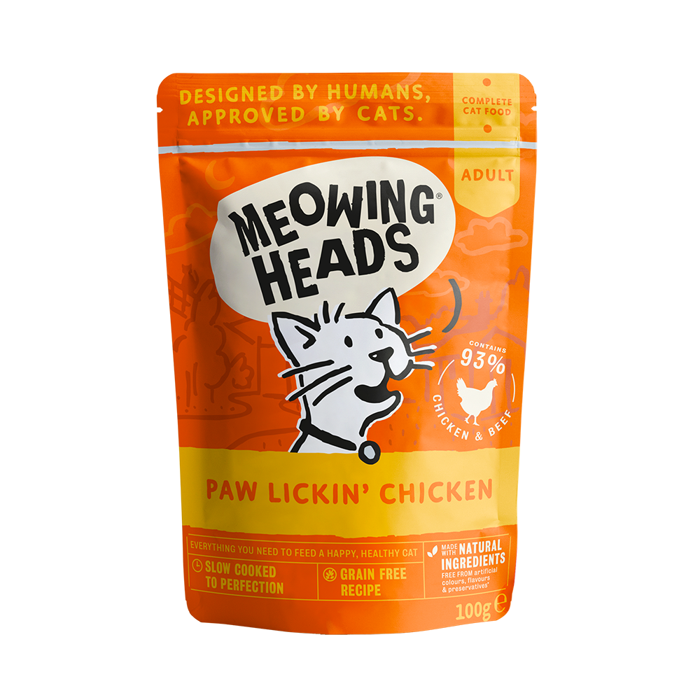 MEOWING HEADS Paw Lickin' Chicken 100g