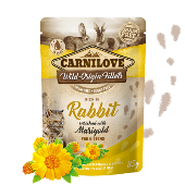 Carnilove Cat Pouch Kitten Rabbit Enriched & Marigold 85g