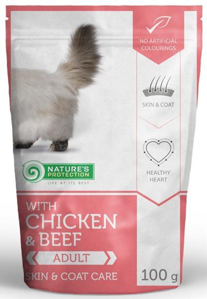 Nature's Protection Cat kaps. Persian chicken&beef 100g