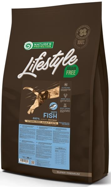 Nature's Protection Cat Dry LifeStyle GF Sterilised W.Fish 7 kg