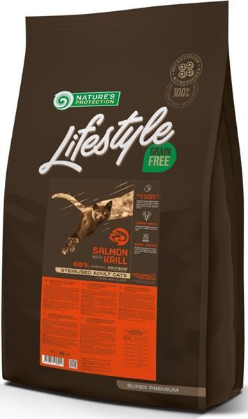 Nature's Protection Cat Dry LifeStyle GF Sterilised Salmon 7 kg