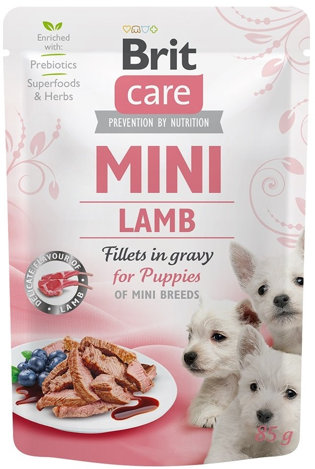 Brit Care Dog Mini Puppy Lamb fillets in gravy 85g