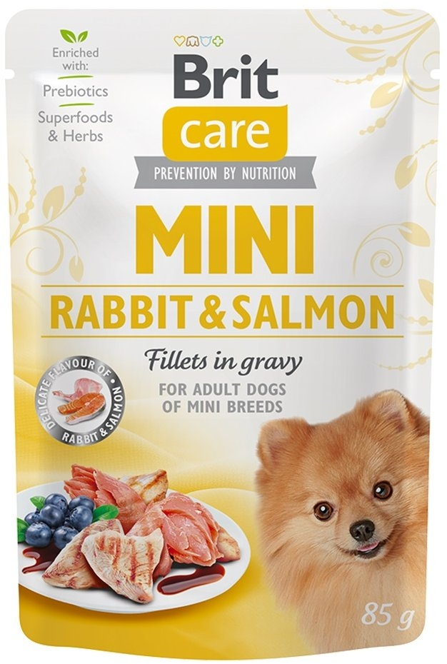 Brit Care Dog Mini Rabbit&Salmon fillets in gravy 85g