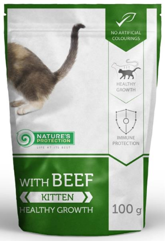 Nature's Protection Cat kaps. Kitten with Beef 100g