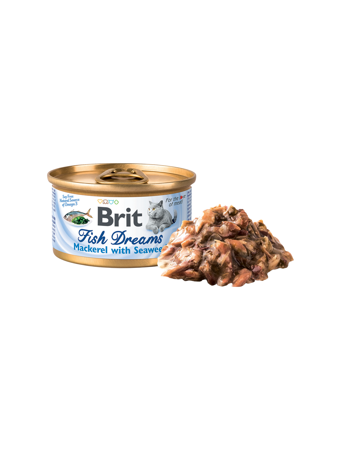 Brit Fish Dreams Mackerel & Seaweed 80g